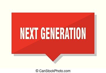 generación, etiqueta, rojo, luego