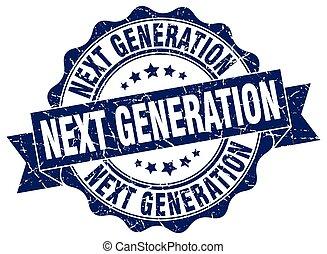 generación, luego, signo., sello, stamp.