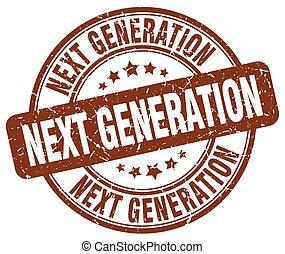 generación, marrón, luego, grunge, estampilla
