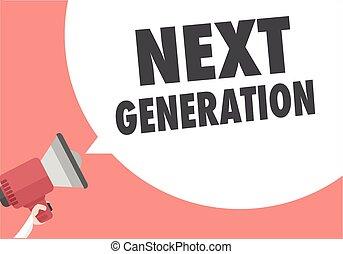 generación, megáfono, luego