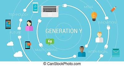 generación, o, smartphone, generación, millennials