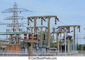 generación, subestación, electricy