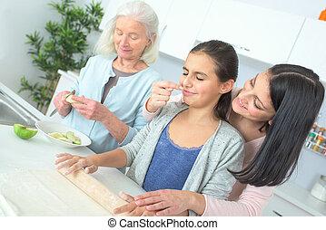 generaciones, hornada, tres, juntos, mujeres
