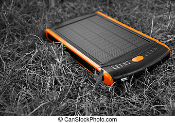 generador de la energía, powerbank., energía, eléctrico, puro, solar
