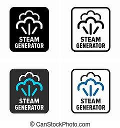 generador de la energía, vapor