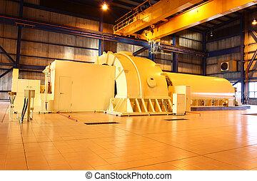 generador de la energía, vapor, turbina
