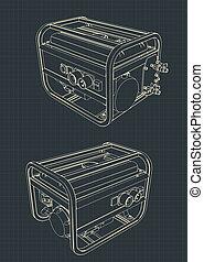 generador, portátil, dibujos