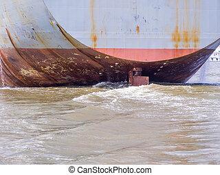 General cargo ship ,Stern