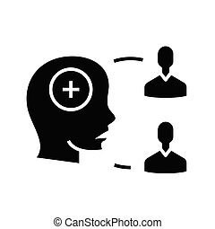 General consensus black icon, concept illustration, vector ...