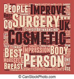 General Cosmetic Surgery text background wordcloud concept