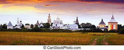 General countryside view of Spaso-Prilutsky Monastery in Vologda, Russia