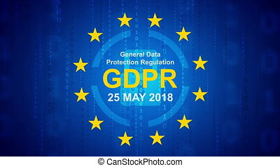 General Data Protection Regulation - GDPR motion background...