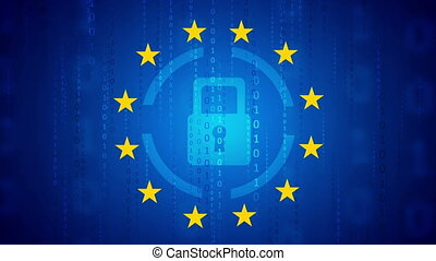 General Data Protection Regulation - GDPR motion background