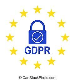 General Data Protection Regulation (GDPR). Vector illustration.