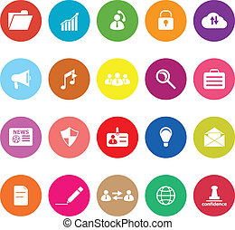 General document flat icons on white background