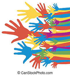 General election voting hands.