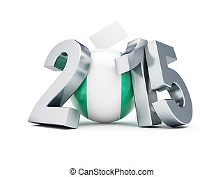General elections in Nigeria 2015 on a white background