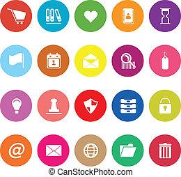 General folder flat icons on white background