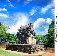 Nalanda Gedige, The centre of Sri Lanka, old stone building used as a place of worship both by the Buddhist and the Hindus