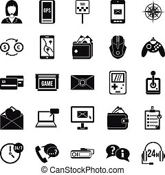 General information icons set. Simple set of 25 general information vector icons for web isolated on white background