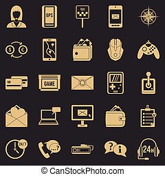 General information icons set. Simple set of 25 general information vector icons for web for any design