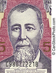 General Justo Rufino Barrios on 5 Quetzal 2006 Banknote from...