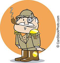 general, llevando, uniforme militar