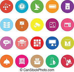 General office flat icons on white background