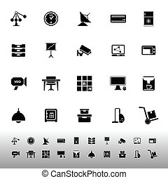 General office icons on white background