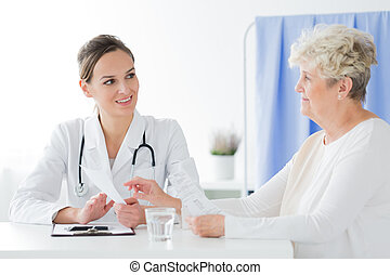 General practitioner doing medical interview