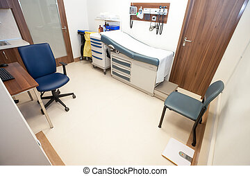 General Practitioner Office - An empty furnished modern...