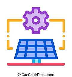 general solar setup icon vector outline illustration