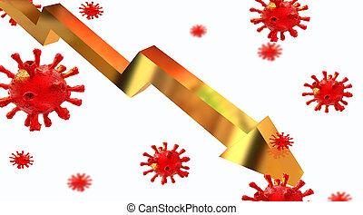general stock market index golden virus coronavirus covid-19...