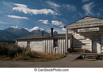 An old general store in Grand Teton National Park