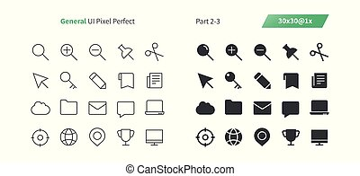 General UI Pixel Perfect Well-crafted Vector Thin Line And Solid Icons 30 1x Grid for Web Graphics and Apps. Simple Minimal Pictogram Part 2-3
