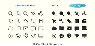 General UI Pixel Perfect Well-crafted Vector Thin Line And Solid Icons 30 2x Grid for Web Graphics and Apps. Simple Minimal Pictogram Part 2-3