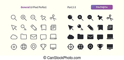 General UI Pixel Perfect Well-crafted Vector Thin Line And Solid Icons 30 3x Grid for Web Graphics and Apps. Simple Minimal Pictogram Part 2-3