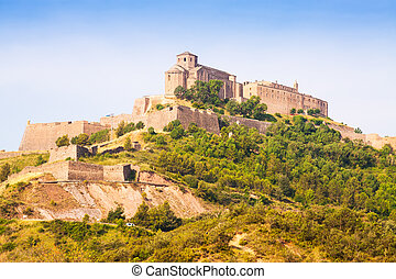 General view of Castle of Cardona. Catalonia
