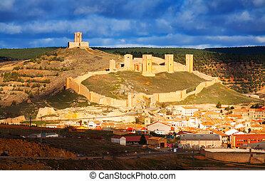 General view of castle of Molina de Aragon. Castile-La ...