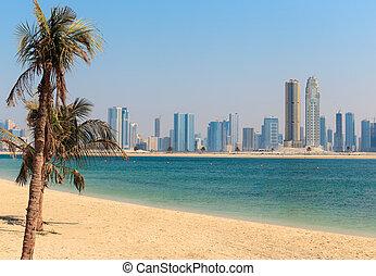 General view of Jumeirah Beach Park in Dubai