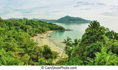 General view of Laem Sing Beach. Phuket island. Thailand