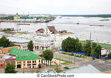 General view of Nizhny Novgorod in june