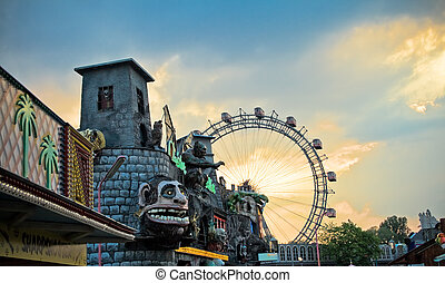 General view of Prater, at sundown - General view of Prater...