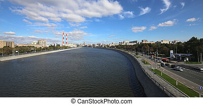 General view of the city of Moscow, Russia