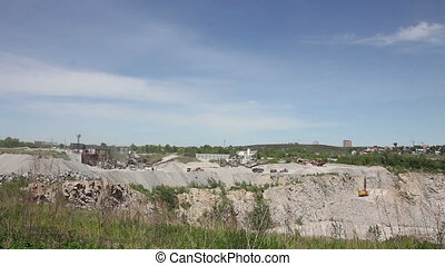 General view of the mining quarry