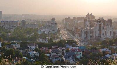 General view of the prospectus Al-Farabi. Almaty,...