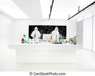 scientists in a chemistry lab