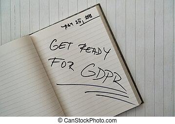 generale, protezione, regolazione, (gdpr), dati