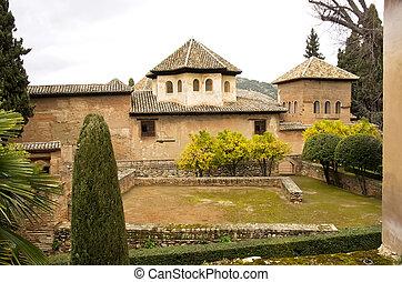 generalife, alhambra, jardins, grenade