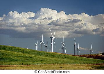 generare, mulini vento, potere